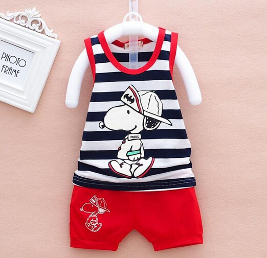 Baby Boy Carters Clothing Set 100% Cotton Bebe Clothes Cartoon Cute Dog Sport Suit 2015 Roupa Infantil Newborn Baby Bodysuits(China (Mainland))