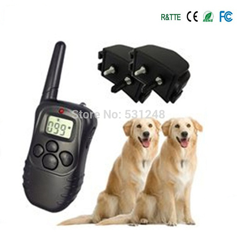5 pcs/lot Wholeslae Hot Sale Electric LCD Screen +VIBRA Collar Dog Pet Training Remote Control Anti Bark Stop for 2 Dogs(China (Mainland))