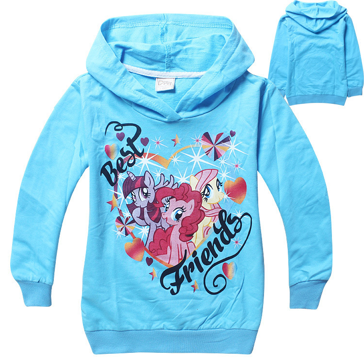 Freeshipping 10pcs/lot 2 color baby  girls clothes cartoon lighting loop girls hoodies coat my little pony girls coat wholesale<br><br>Aliexpress