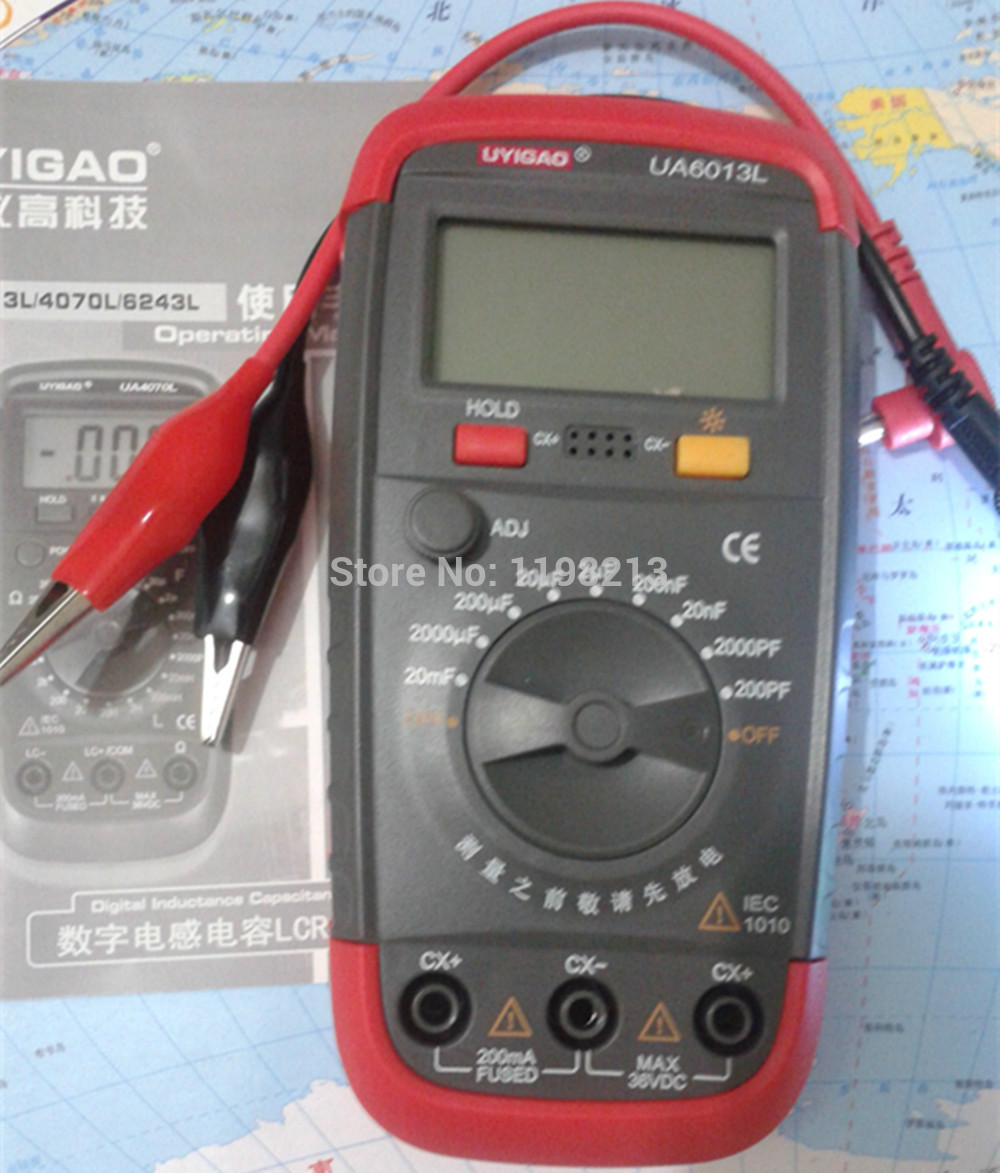 New Arrival Wide Rang UA6013L Digital Capacitance Tester Meter Multimeter Measurement<br><br>Aliexpress