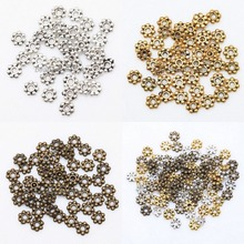 1000pcs Tibetan Gold Silver Metal Daisy Wheel Spacers for Jewelry Making