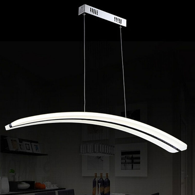 Modern Suspended pendant for restaurant dining room decorative hanging lamp fixture LED acrylic lights luminaire Length950 37W(China (Mainland))