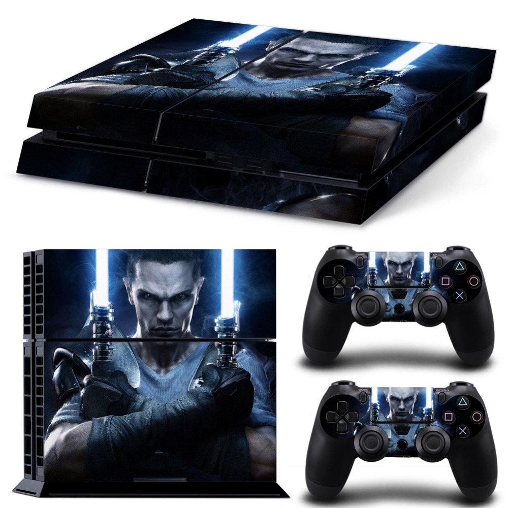 Star War Poster Vinyl Decal PS4 Skin Stickers Wrap for Sony PlayStation 4 Console and 2 Controllers Decorative Skins(China (Mainland))