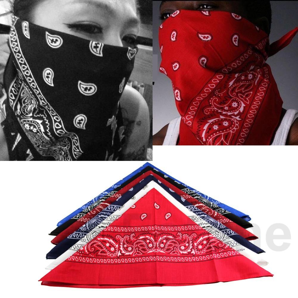 D19 HOT 1pcs Paisley Bandana HeadWrap Hair wrap Double Side Print 1 pc Cotton Scarf Headband free shipping(China (Mainland))