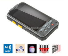 """4.3"""" Rugged Wireless mini android Handheld mobile phone meter Terminal PDA bar code Barcode data collector free shipping GPS NFC(China (Mainland))"""
