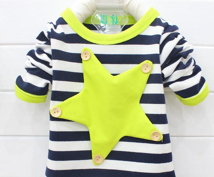 Гаджет  Free shipping spring autumn fashion children t shirts unisex striped long sleeve t-shirt baby boys cotton sport tops t shirts None Детские товары