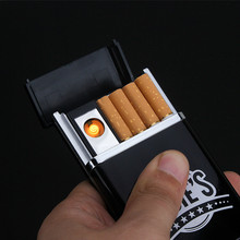 Electronic Lighter Cigarette Box for 8pcs Cigarettes Charge by Micro USB Port