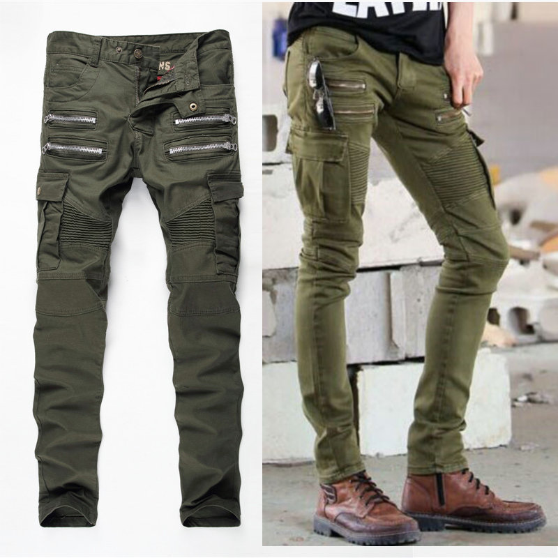High Quality Green Jeans Men Promotion-Shop for High Quality ...