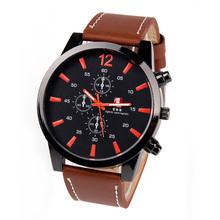 Relogio masculino cuero marca de lujo analógico Display hombre reloj de cuarzo reloj ocasional hombre luz de la noche de hombres reloj