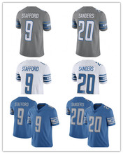 Men's 9 Matthew Stafford #20 Barry Sanders Jersey Embroidery Stitched 2017 Color Rush 2017 Retired Player Limited Jersey(China (Mainland))