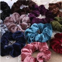 Cuhair(tm) 5pcs velvet design top elastic 1pcs  women girl ponytail holder hair tie rope rubber accessories