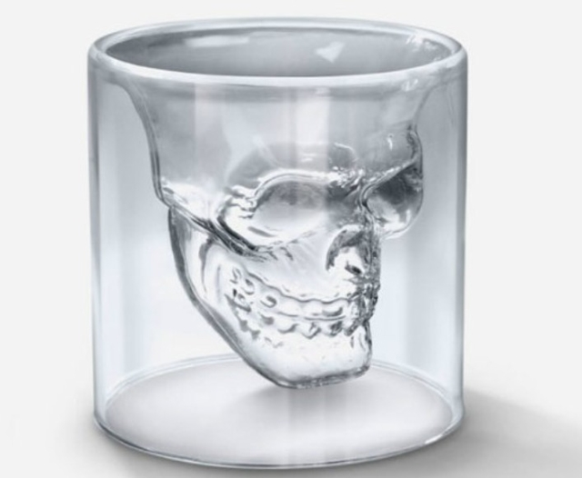 Hot Cool Crystal Pirate Skull Cup 75ml Whiskey Vodka Beer Cups Home Bar Cocktail Party Drinking Mugs(China (Mainland))