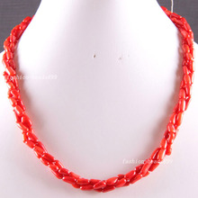 "Fashion Jewelry Natural Stone Red Sea Coral Beads Weave Necklace 19""  E821(China (Mainland))"