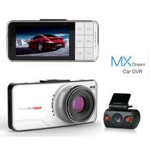 Anytek AT66B Car DVR Dual Lens 1080P Full HD Camera Novatek 96655 WDR G-Sensor 170 Degree Night Vision External GPS Tracker(China (Mainland))