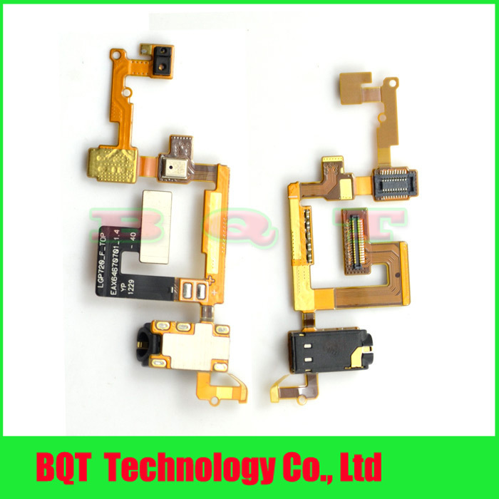 100% New For LG P720 Max Audio headphone jack Microphone Flex Cable Free shipping(China (Mainland))