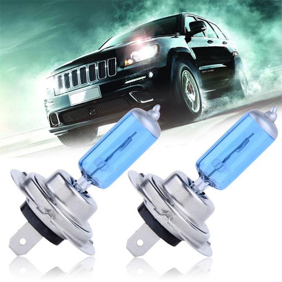2pcs H7 XENON HALOGEN BULB 5000K Car Super White Light Bulbs 12V 55W
