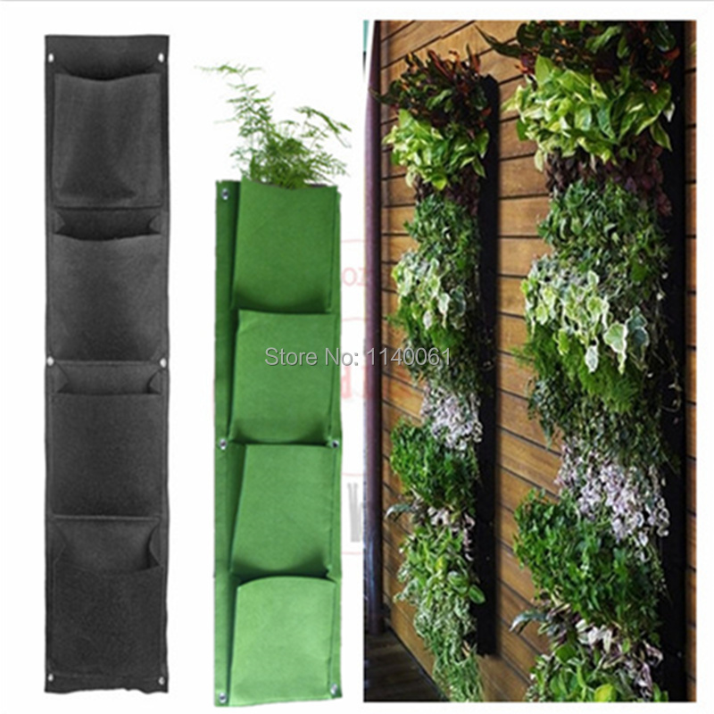 Planter Novelty 4 Pockets Wall mounted Living Indoor Wall Planter ...