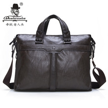 Men Bags Laptop Office Briefcases Tactical Genuine Leather Briefcase for Men Computer Briefcase Messenger Bag Mens Handbags(China (Mainland))