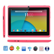 PC Tablet 7 inch Quad Core Q88 ROM 8GB Allwinner A33 Bluetooth Android 4.4 External 3G 1024*600 pxl Bluetooth Tablet Google Play(China (Mainland))