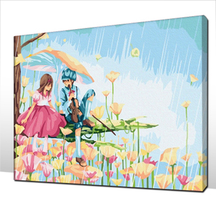 The Best Pictures DIY Digital Oil Painting Acrylic Paint By Numbers Unique Gift Home Decoration 30x40cm Aspirations Pieces C013(China (Mainland))