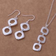 Silver plated Jewelry Sets Earring 319 + Necklace 239 /aslajjsa drjamiqa AS217(China (Mainland))