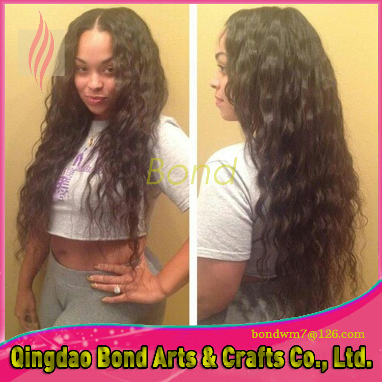hot sale fashion deep wave unprocessed full lace wig/Lace Front Wig glueless virgin Human Hair for black women free shipping<br><br>Aliexpress