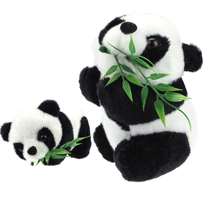 Time-Limited Kids Baby Toy Eatting Bamboo Leaves Panda Boy Girl Cute Soft Push Stuffed Fuzz Panda Animal Doll Toys For Children(China (Mainland))