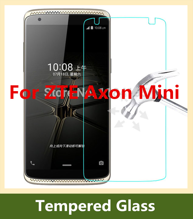 2016 Hot 9H 0.26mm Explosion-proof Front LCD Premium Tempered Glass Film for ZTE Axon Mini B2015 / 5.2 inch Screen Protector(China (Mainland))