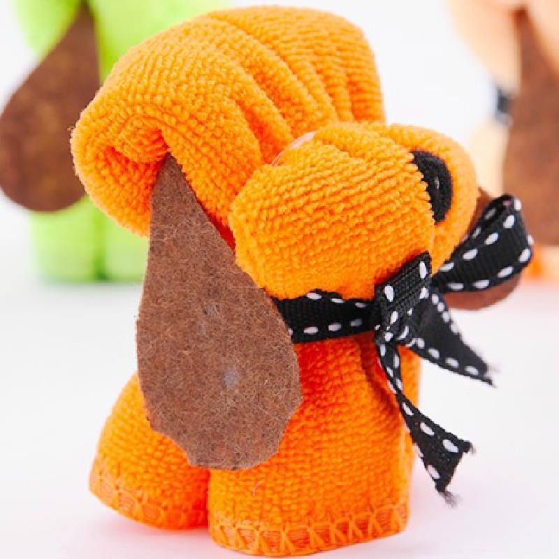 toalla serviette de plage Orange 20 * 20cm super adorable puppy fur gift Towel toalhas de banho adulto(China (Mainland))
