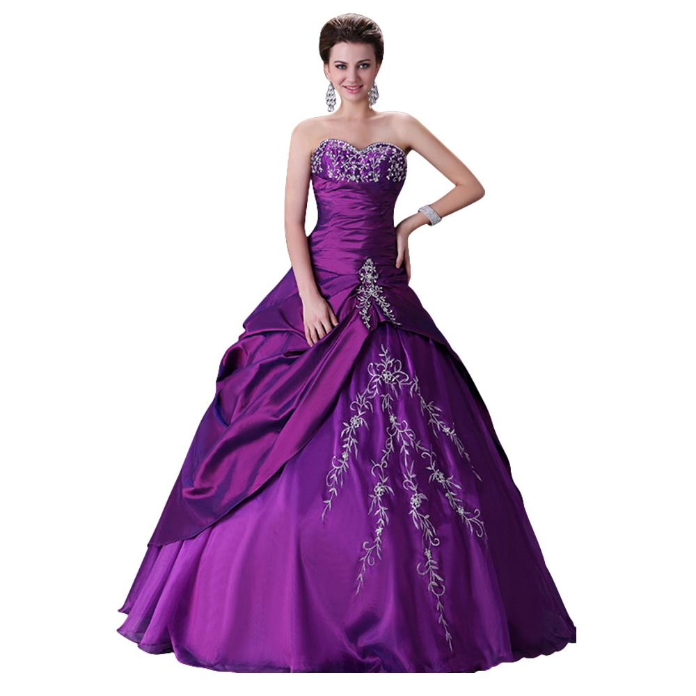 Grace karin stock vintage wedding dress 2015 lace up plus for Purple plus size dresses for weddings