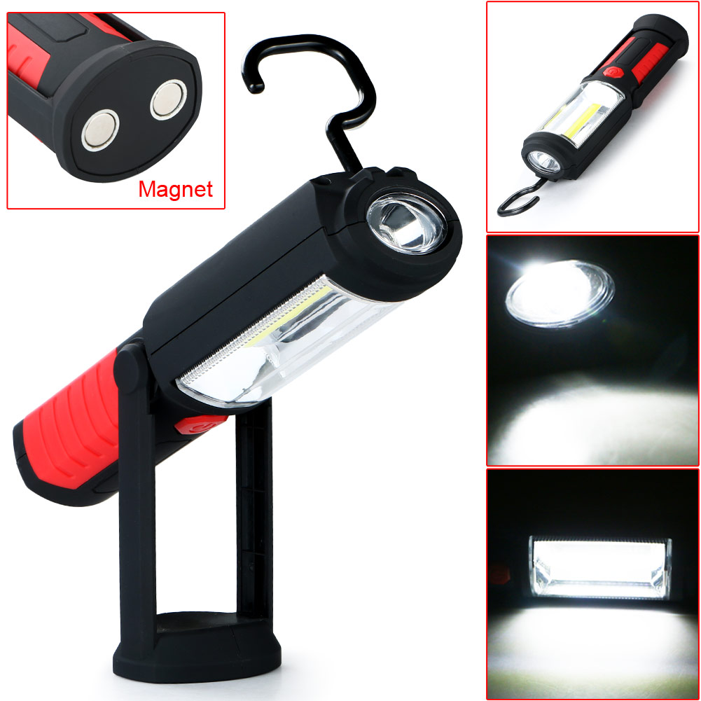 New Arrival COB LED Work Light Inspection Lamp Flashlight Torch Magnetic Hook Hand Tool Garage Outdoors Camping Sport Home(China (Mainland))