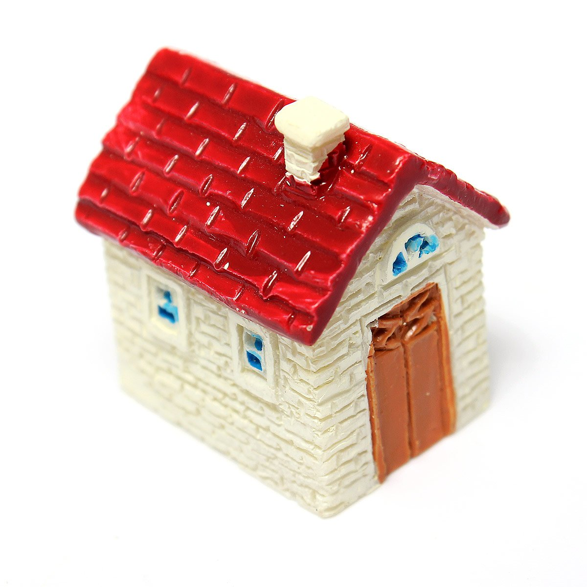 Miniature Resin Small House Ornaments Home Garden Landscape Decoration Red(China (Mainland))