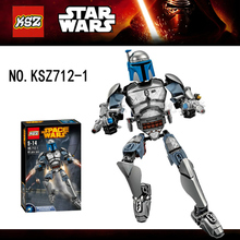 1set Commander Bounty Hunter blocks self-locking bricks star wars toys action figure minifigures NO compatible with lego
