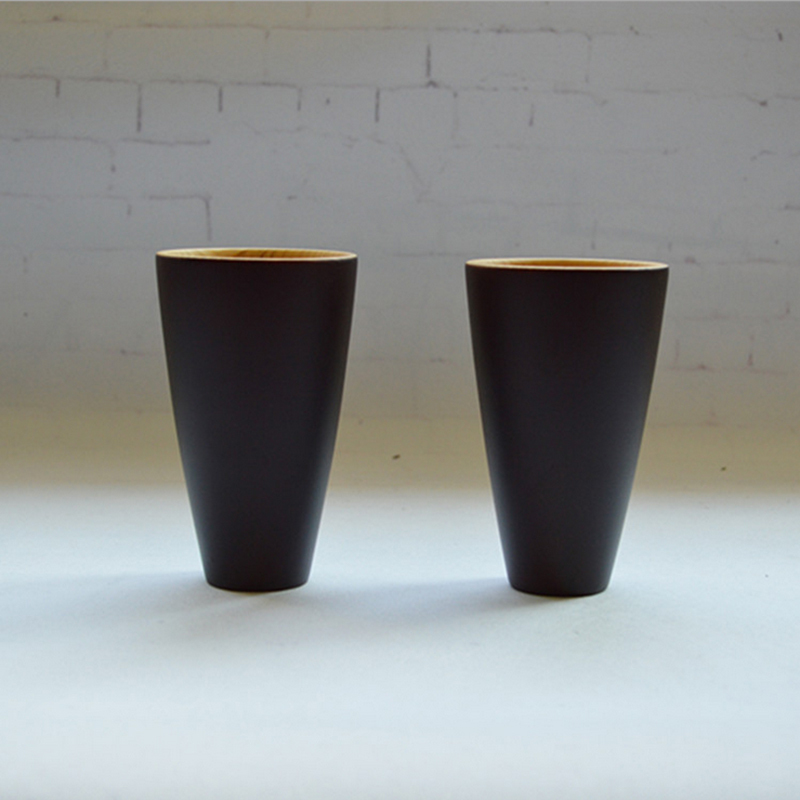Black-Primary Color Coffee Mugs Exquisite Eco-Friendly Japanese Tableware Creative Wooden Cups Heat Insulation Vintage Wood Cup(China (Mainland))
