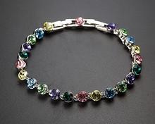 Austrian Crystal Women Bracelet Party Engagement Wedding Jewelry Made With Real font b Swarovski b font