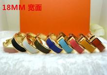 H браслет высокое качество 18 ММ посеребренная браслет для женщин Нержавеющей Стали 316L манжеты браслет Bijoux Ювелирные Изделия с брендом мешок(China (Mainland))