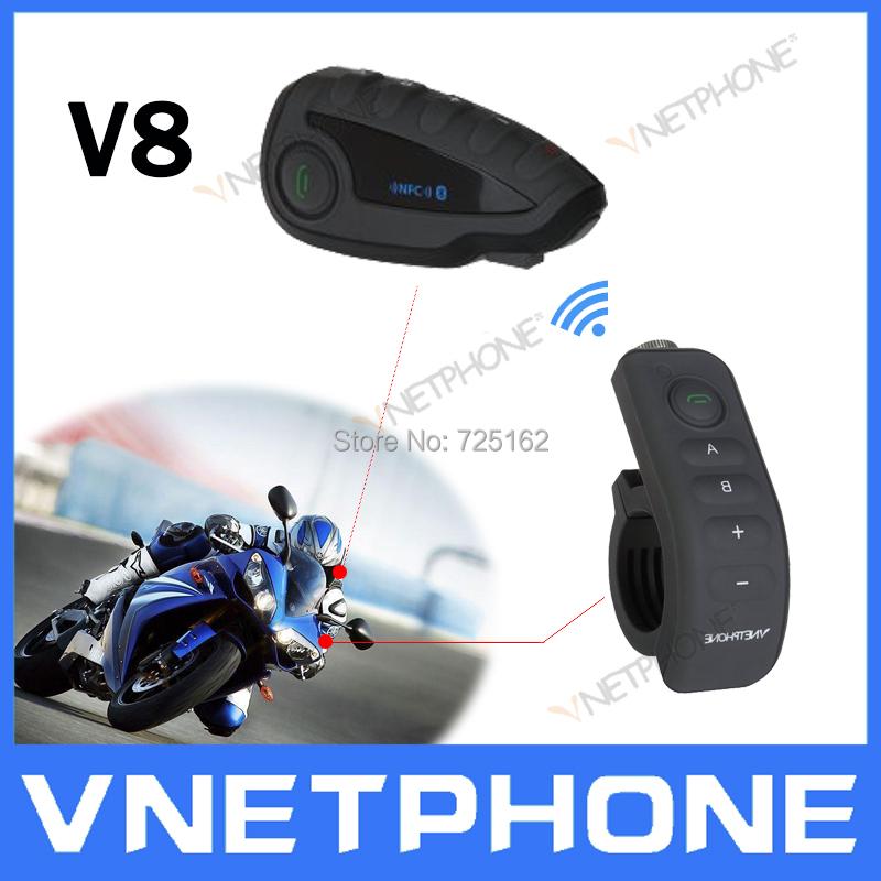 2014 Latest Motorbike Helmet headset motorcycle BT Bluetooth 1200M 5 rider Intercom Interphone Headset NFC/telecontrol vnetphone(China (Mainland))