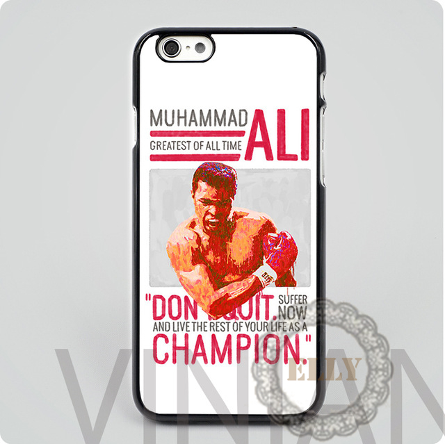 Muhammad Ali - G.O.A.T. fashion mobile phone case cover for iphone 4 4s 5 5s 5c 6 6 plus H6444(China (Mainland))