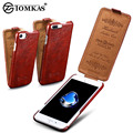 Flip Case For iPhone 7 7 Plus Business Style Wax PU Leather Phone Bag For Apple