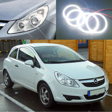 Buy Opel Corsa D 2006 2007 2008 2009 2010 2011 halogen headlight Excellent Ultra bright smd led Angel Eyes Halo Ring kit for $48.00 in AliExpress store