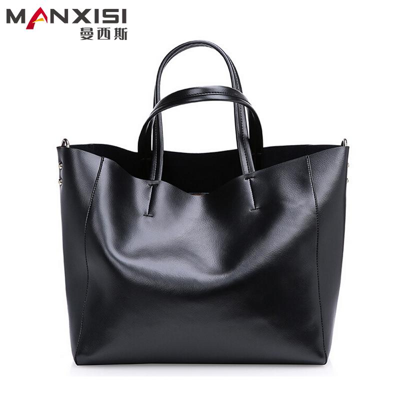 Women Handbags Of Famous Brands Black Genuine Leather Handbag Ladies Handbags Casual Tote Women's Shoulder Bags Bolsas Femininas