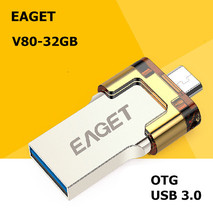 EAGET V80 USB 3.0 100% 32GB Smart Phone Tablet PC USB Flash Drives OTG external storage micro 32g pen drive memory stick