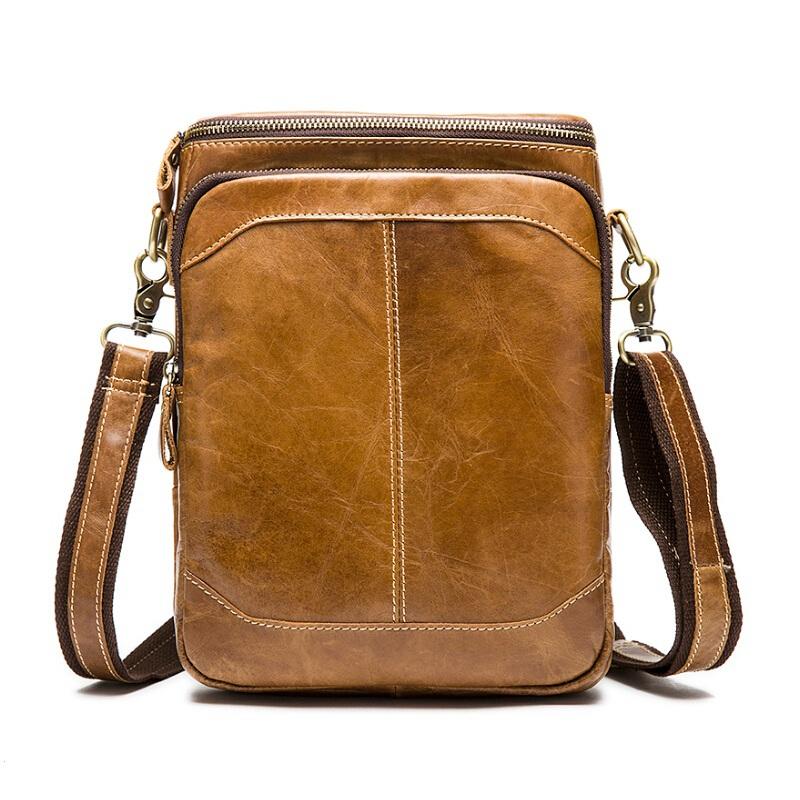New arrive cowhide leather men bags 100% genuine leather men bags fashion designer small men bag desigual messenger shoulder bag(China (Mainland))