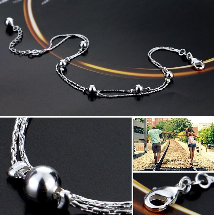 Ювелирные изделия из ножной браслет для женщины ; аксессуары нога ювелирные изделия ; 925 чистое серебро ;