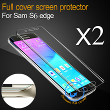 Full Screen Protector for Samsung Galaxy S6 Edge or Plus TPU Coverage Curved Part Protective Film Cover for S6 Edge+
