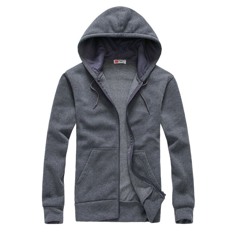 Hot sale Mens Hoodies and Sweatshirts autumn winter lovers casual with a hood sport jacket men's coat 5 colors, size S-XXL(China (Mainland))