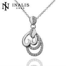 N569 New Arrival Women Necklace African Wedding Gold Plated Austrian Crystal Pendant Necklace Jewlery Vintage Statement