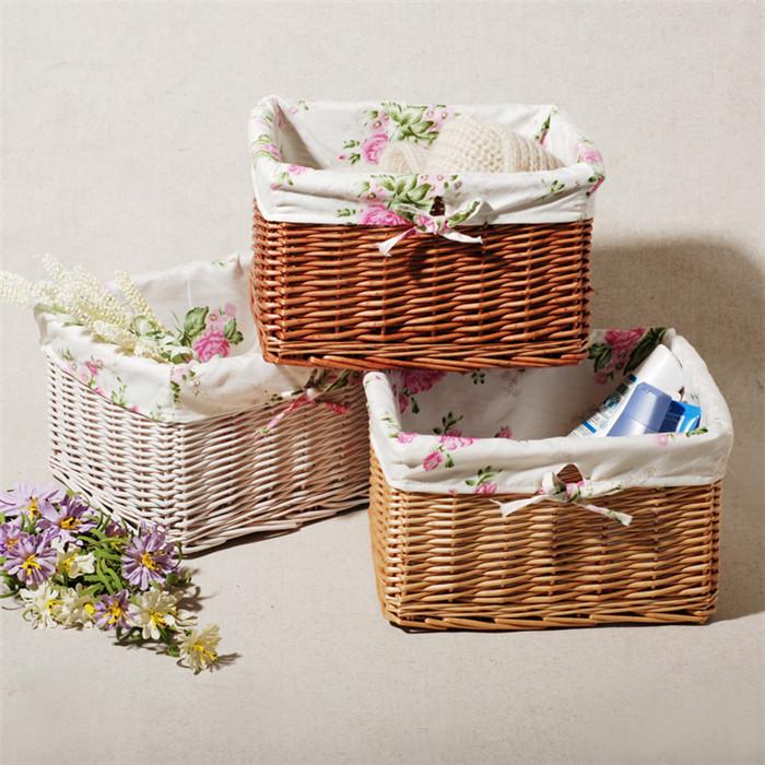 Rustic Rattan Laundry Basket Storage Box Snacks Bathroom Wicker Basket Fruit Basket Small Knitted Makeup Organizer(China (Mainland))