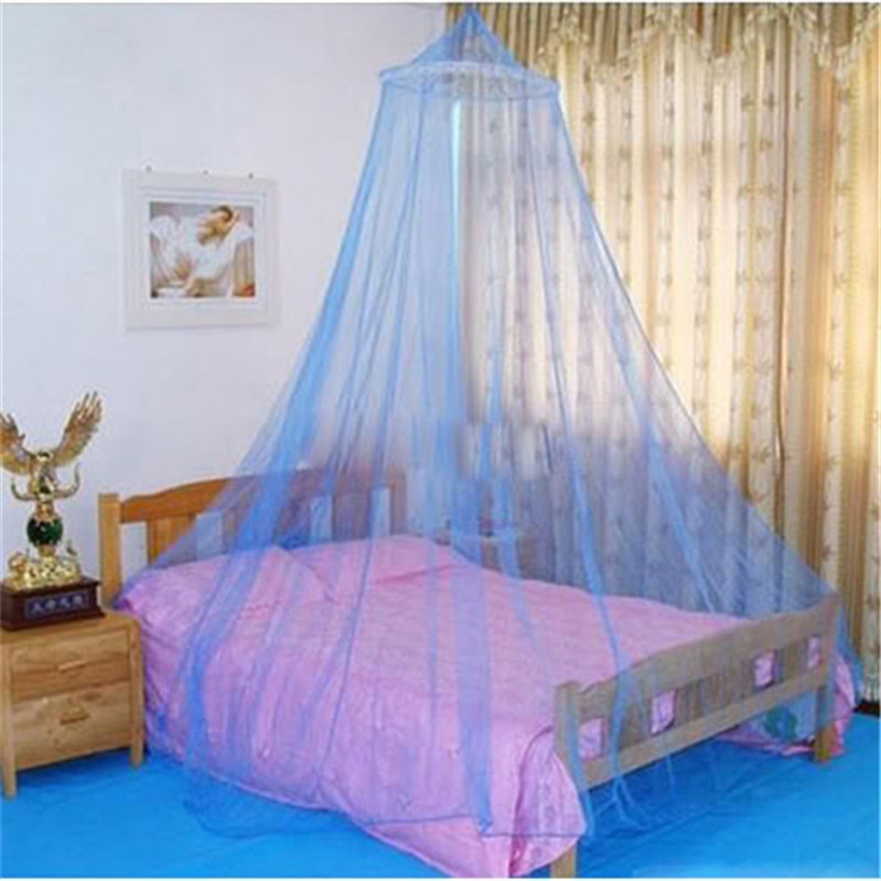 2016 Summer White Netting Round Lace Hung Dome Princess Bed Home Canopy For Adult Students Mosquito Mesh Bedding Net MN643(China (Mainland))
