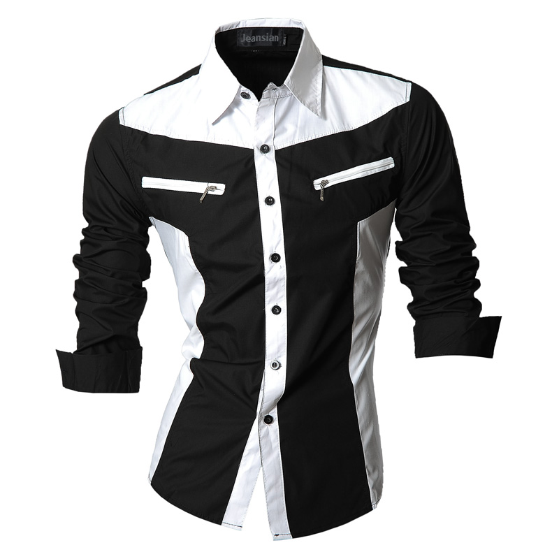 2017 Spring Autumn Features Shirts Men Casual Jeans Shirt New Arrival Long Sleeve Casual Slim Fit Male Shirts Z018